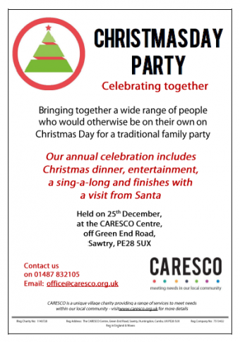 christmas day party poster
